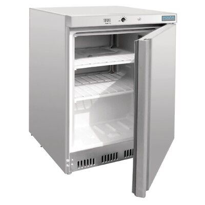 POLAR - CD081 - 140 LITRE UNDERCOUNTER FREEZER - STAINLESS STEEL. Weekly Rent...
