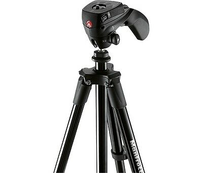"Manfrotto - 60"" Compact Action Tripod - Black MKCOMPACTACN-BK"