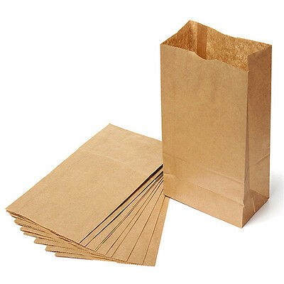 Brown Kraft Paper Bags Gift Food Bread Candy Wedding Party Bags High Quality