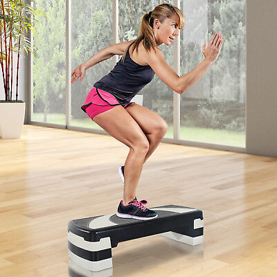 BLACK FRIDAY HOMCOM 3 Level Aerobic Stepper Step Board Training Yoga Fitness