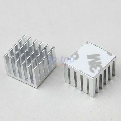 5PCS Lot 22x22x10mm Anodized Aluminum Heat Sink For Chip Router Cooler
