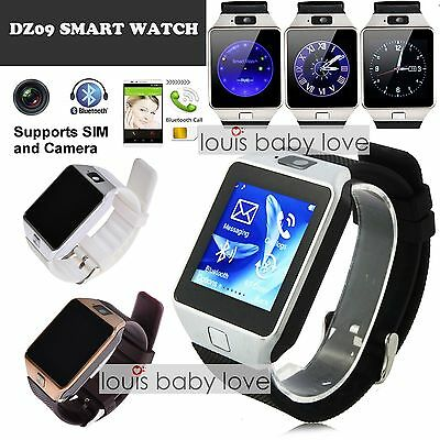 Bluetooth DZ09 Smart Watch with SIM Card Slot For Samsung Android HTC Phone UK