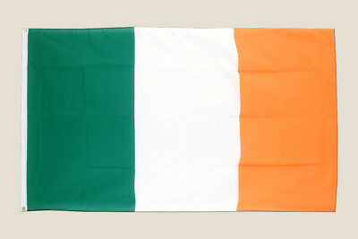 Ireland 3x5 Flag Green White Orange Polyester 2 Brass Grommets Country Irish