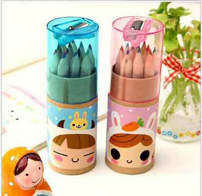 12pcs/Set Assorted Drawing Stationery Coloring Pencils Colouring Colored Kids SW