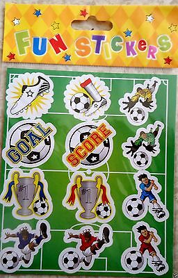 3 Sheets FOOTBALL Stickers Boys Girls Birthday Party Loot Bag Fillers FREEPOST