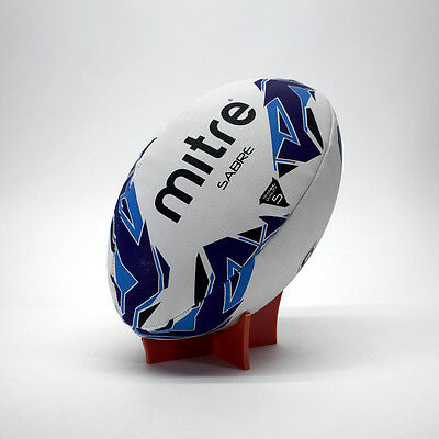 Rugby Ball Display Stand 5mm Perspex Acrylic Laser Cut and Polished