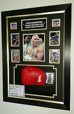 *** RARE FLOYD MAYWEATHER Signed GLOVE  AFTAL DEALER Approved ***