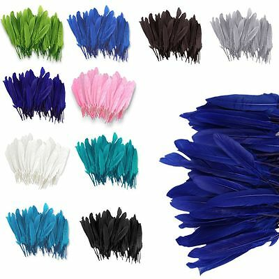 100x Beautiful Goose Feathers 4-6inch /10-15cm DIY Craft Art Party Home Decor