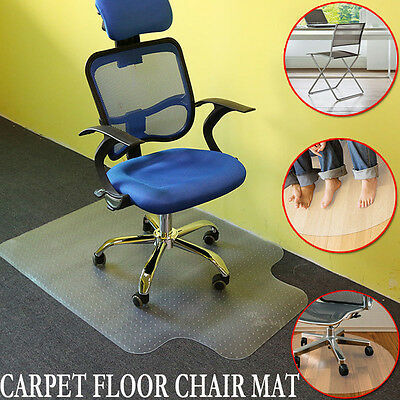 90x120cm PVC Anti-slip Carpet Protector Home Office Chair Mat Frosted New