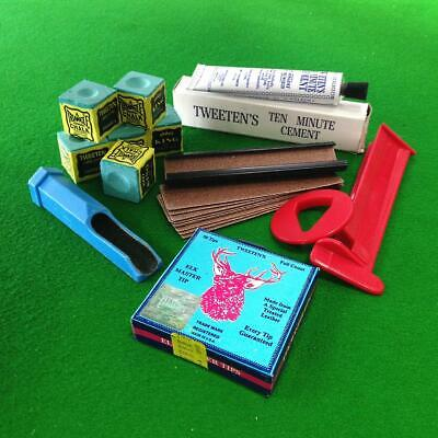 6 Piece Elkmaster Snooker or Pool Cue Tip Accessory Kit