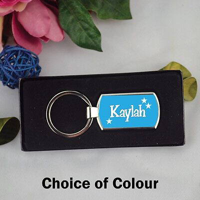 Personalised Keyring - Any Name - Colour - Custom Personalised Gifts