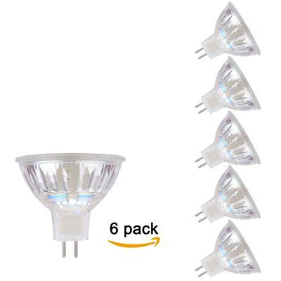 6 PACK Flip chip MR16 3W Glass LED Light Spotlight AC/DC12V 20W Halogen Equivale