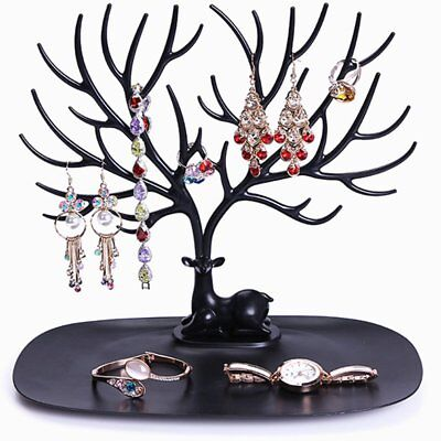 Retro Bird Tree Stand Jewelry Earrings Necklace Ring Show Rack Holder Display IG
