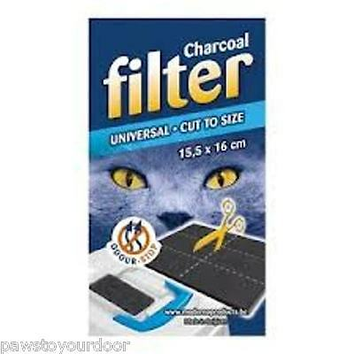 Universal Replacement Charcoal Filter for Hooded Cat Litter Tray Enclosed Loo