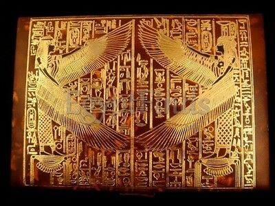 Pretty Large Pretty Egyptian Hand Made Isis Genuine Leather Jewelry Treasure Box