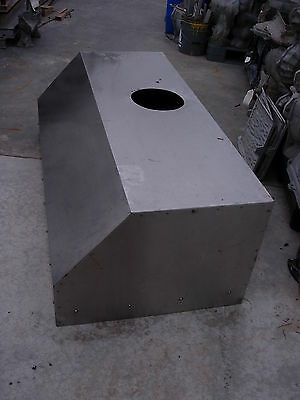 """Stainless Restaurant Kitchen Exhaust Hood  5' 1/4"""" W  X  21"""" H  X  30"""" D (Used)"""