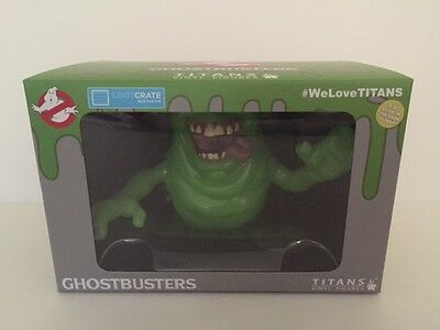 "Glow in the Dark Slimer Vinyl Figure Ghostbusters 6.5"" - Limited Exclusive Crate"