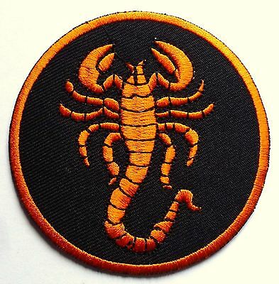 SCORPION HOROSCOPE - SEW OR IRON ON BIKER MOTORCYCLE PATCH No-49