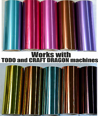 Todo Craft Dragon Cards Heat Transfer 12cm x 10m Hot Foil Machine 5 inch x 32ft