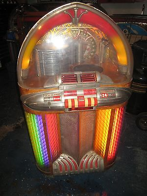 Original Wurlitzer 1100 Jukebox For Restoration 1948 Plays 78s Very Cool Machine