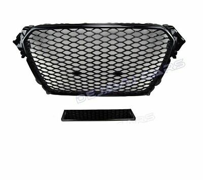 RS4 Front grill Audi A4 B8 8K RS DTM Wabengrill  gloss-black 2011-2015 Facelift