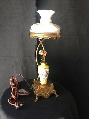 Vintage Antique French Table Lamp Music Box