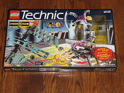 LEGO Technic Rare Cyber Slam Spider Slayer With 2 Figures & Motor 3038 NISB