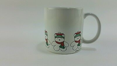 Vintage NOS 1986 Dayton Hudson Santa Bear Christmas Holiday Winter Coffee Mug