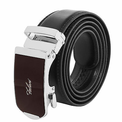 Falari® Men's Genuine Leather Dress Ratchet Belt 35mm Adjustable Size 7008