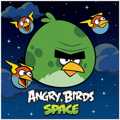 Angry Birds Space ~ (16) Large Lunch Napkins  ~ Birthday Party Decorations