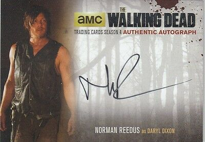 The Walking Dead Season 4 Pt.1 - Nr4 Norman Reedus (Daryl) Black Autograph Card
