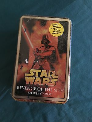 Star Wars Revenge Of The Sith Movie Cards Tin Vader Sealed
