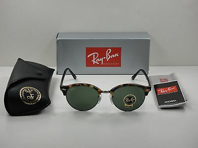 47e1eedb90f Ray-Ban Clubround Sunglasses Rb4246 1157 Tortoise   Black green Lens 51Mm  ...