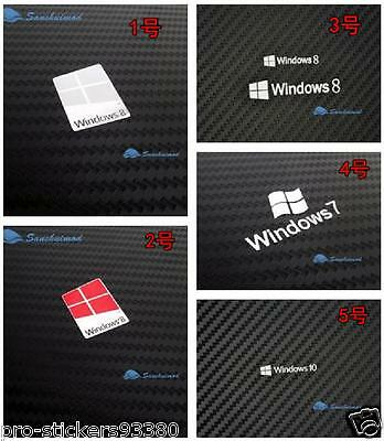 Micro Windows win 7 8 10 Autocollant STICKERS logo Aufklebe Metal badge PC Label