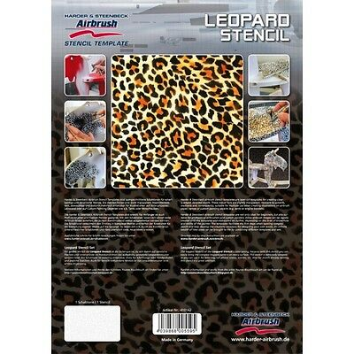 """Airbrushing stencil """"Leopard""""  A4 template by Harder Steenbeck solvent resistent"""