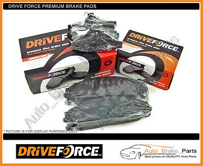 DRIVE FORCE Front & Rear Brake Pads for FORD FALCON BA all models, XR6, XR8
