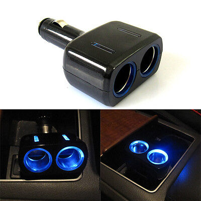 One in two Car cigarette lighter 12V power supply distributor USB Car Charger