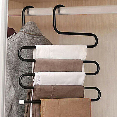 Pleased Creative S Shape Pants Hanger Clothes Rack Multilayer Holder