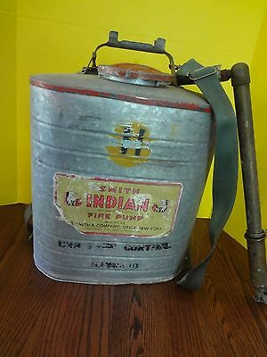 Vintage Smith INDIAN FIRE PUMP D.B. Smith & Company w Hand Pump ***FAST S/H***