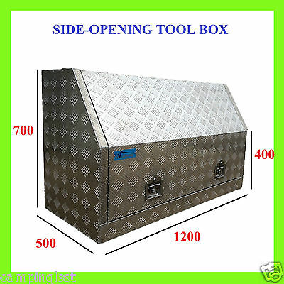 ARRIVAL!!ALUMINIUM HEAVY DUTY Side Opening UTES TRUCK TOOLBOX 2mm CHECKER PLATE