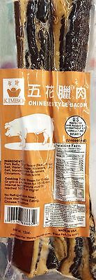 12oz Kimbo Uncooked Chinese Style Bacon Made in USA