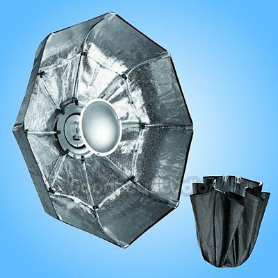 70cm SILVER Portable Collapsible Beauty Dish for Alien Bees Alienbees Strobe