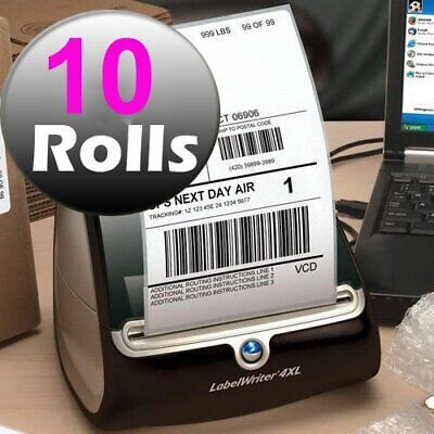 10 Rolls Direct Thermal Shipping Labels 220/Roll 4x6 Compatible Dymo 4XL 1744907