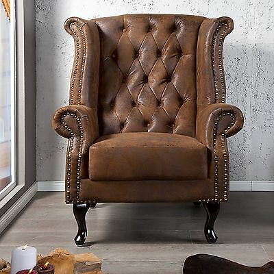 "VINTAGE BROWN ARMCHAIR ""ROYAL"" 