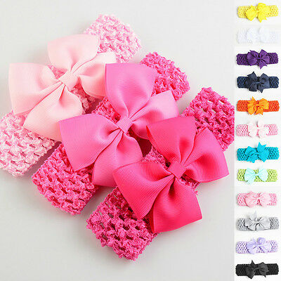 Baby Girl Kids Toddler Lace Bowknot Headband Hair Band Headwear Accessories UK