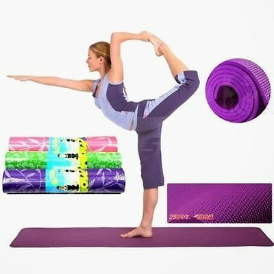 New YOGA MAT EXERCISE FITNESS AEROBIC GYM PILATES CAMPING NON SLIP 15mm THICKAN