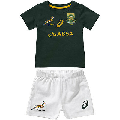 South Africa Springbok Home Fan Rugby Infant Kit 2014-2016 (BNWT)