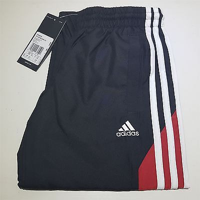 Boys Adidas Tracksuit Bottoms Pants Trousers Junior Black Red 7-8 9-10 Years