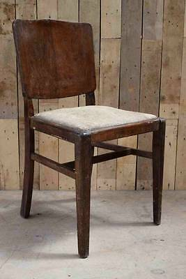 """Retro Vintage """"Beautility"""" Wooden Sprung Occasional Chair - Upcycle?"""