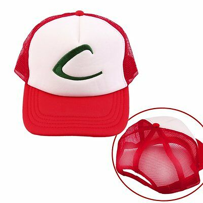 1/2/10X Size Baseball Cap Costume Cosplay Party Gift For Pokemon Ash Ketchum LOT